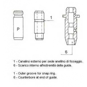 Направляющая втулка клапана 011448 metelli - TOYOTA STARLET (KP6_) Наклонная задняя часть 1.0 (KP60)
