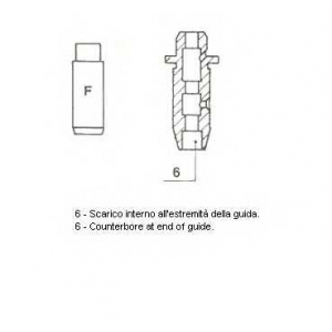 Направляющая втулка клапана 011991 metelli - NISSAN SUNNY II Hatchback (N13) Наклонная задняя часть 1.8 GTI 16V