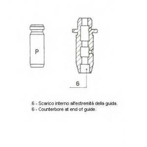 Направляющая втулка клапана 012144 metelli - MITSUBISHI COLT II (C1_A) Наклонная задняя часть 1.6 Turbo ECi (C13A)