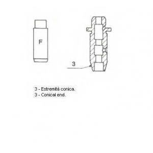 METELLI 01-2298 Направляющая клапана IN PSA XU5/XU9 (пр-во Metelli)