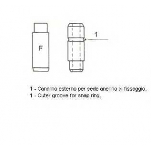 012326 metelli Направляющая втулка клапана LADA SAMARA Наклонная задняя часть 1300