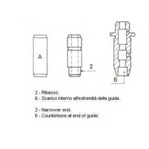 Направляющая втулка клапана 012561 metelli - NISSAN URVAN автобус (E24) автобус 2.5 D