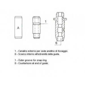 Направляющая втулка клапана 012707 metelli - MAZDA 626 III Station Wagon (GV) универсал 2.0 D Comprex