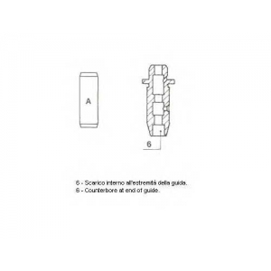 Направляющая втулка клапана 012779 metelli - NISSAN SERENA (C23M) вэн 2.3 D