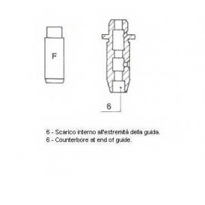 Направляющая втулка клапана 01s2804 metelli -