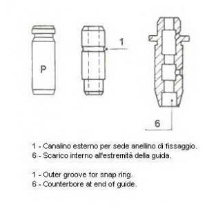 Направляющая клапана (пр-во Metelli) 01s2853 metelli -