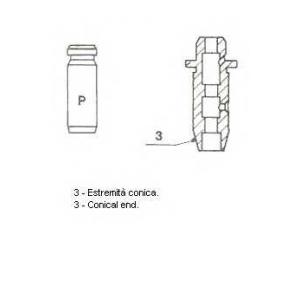 Направляющая втулка клапана 01s2915 metelli -