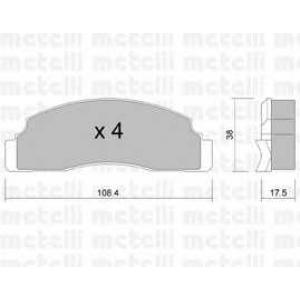 METELLI 22-0022-0 Brake Pad