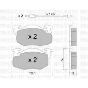 METELLI 22-0037-0 Brake Pad
