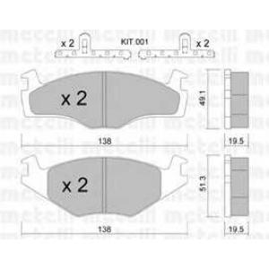 METELLI 22-0045-1K Колодки торм