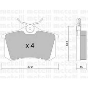 METELLI 22-0100-0 Тормозные колодки задние PSA/Renault