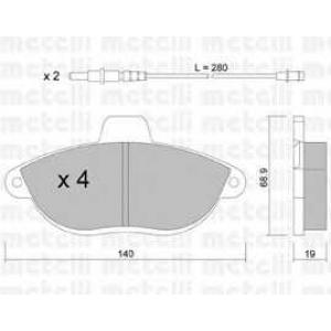 METELLI 22-0105-0 Brake Pad
