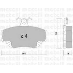 METELLI 22-0120-0 Brake Pad