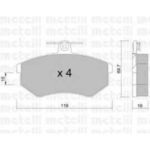 METELLI 22-0148-0 Brake Pad