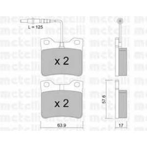 METELLI 22-0192-0 Тормозные колодки задние 406/605/607
