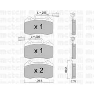 METELLI 22-0251-0 Комплект тормозных колодок, дисковый тормоз Крайслер Випер