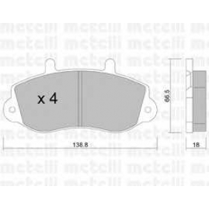 METELLI 22-0264-0 Brake Pad