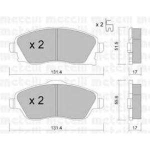 METELLI 22-0340-0 Brake Pad