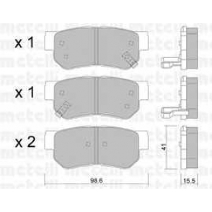 METELLI 22-0365-0 Brake Pad