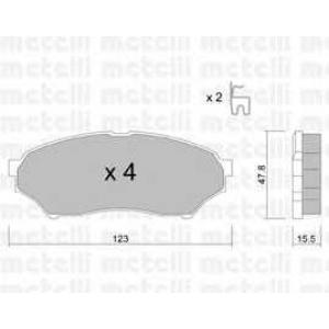 METELLI 22-0397-0 Brake Pad