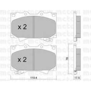 METELLI 22-0452-0 Brake Pad