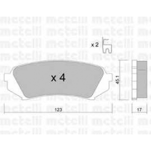 METELLI 22-0453-0 Brake Pad
