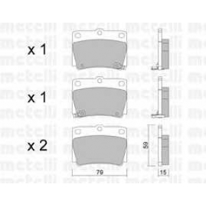 METELLI 22-0484-0 Brake Pad