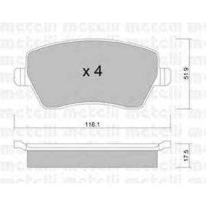 METELLI 22-0485-0 Brake Pad