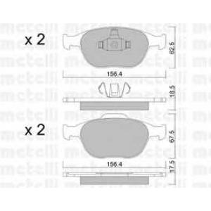 METELLI 22-0533-0 Brake Pad