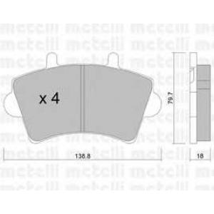 METELLI 22-0545-0 Brake Pad