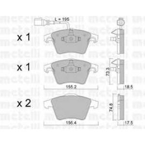 METELLI 22-0552-1 Brake Pad