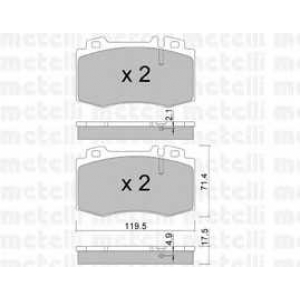 METELLI 22-0563-5 Brake Pad