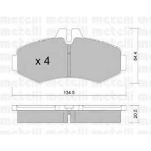 METELLI 22-0573-0 Brake Pad