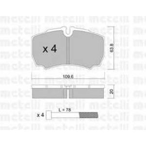 METELLI 22-0604-0 Brake Pad