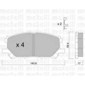 METELLI 22-0618-0 Brake Pad