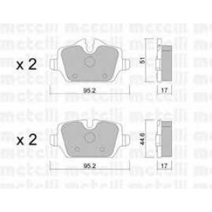 METELLI 22-0641-0 Brake Pad