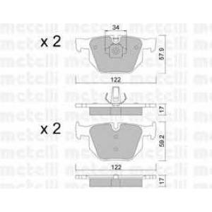 METELLI 22-0644-4 Brake Pad