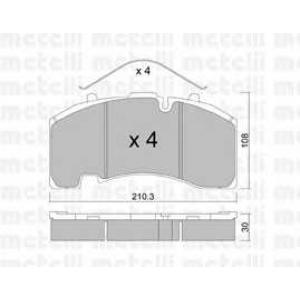 METELLI 22-0652-0 Brake Pad