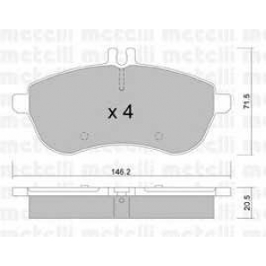 METELLI 22-0665-0 Brake Pad