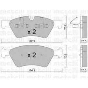 METELLI 22-0670-0 Brake Pad