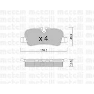 METELLI 22-0694-0 Brake Pad