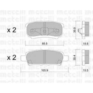 METELLI 22-0737-0 Brake Pad