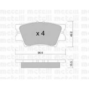 METELLI 22-0749-0 Brake Pad