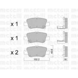 METELLI 22-0796-0 Brake Pad