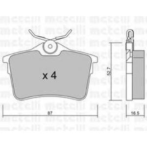 METELLI 22-0816-0 Комплект тормозных колодок, дисковый тормоз