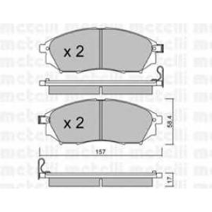 METELLI 22-0819-0 Колодки тормозные дисковые, комплект