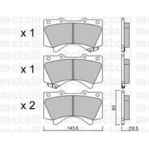 METELLI 22-08210 Комплект тормозных колодок, дисковый тормоз