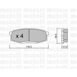 METELLI 22-08220 Комплект тормозных колодок, дисковый тормоз