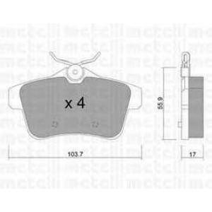 METELLI 22-0855-0 Комплект тормозных колодок, дисковый тормоз