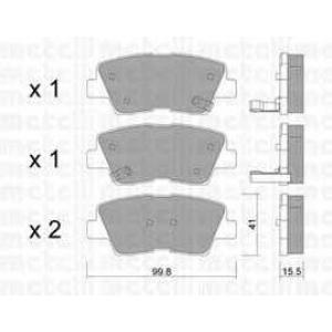 METELLI 22-0886-0 Комплект тормозных колодок, дисковый тормоз